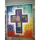 Stained Glass Cross Quilt