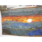 Appalachian Sunset Mountain Art Quilt Wall Hanging